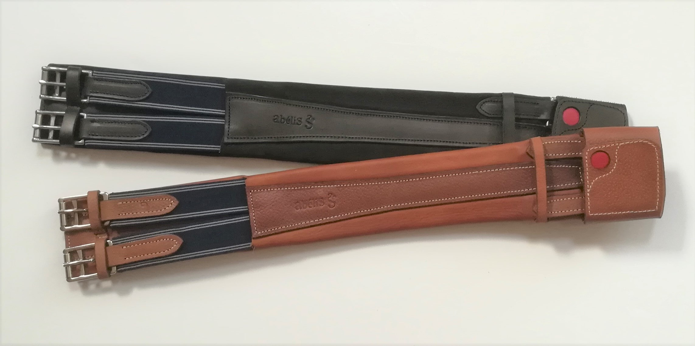 Accessoires équitation en cuir : la sangle dressage One par Abélis Sellier votre maitre artisans sellier